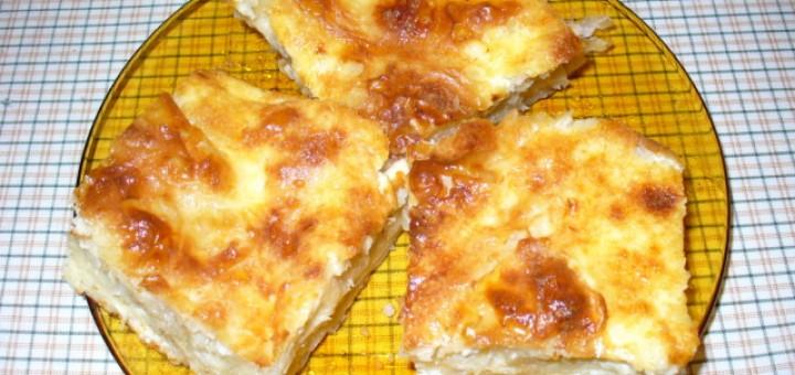 Баница със сирене с готови кори
