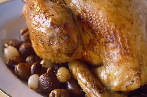 Коледна пуйка с кестени