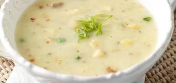 Пилешка млечна супа