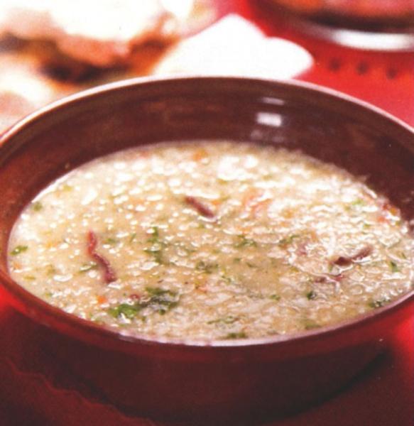 Родопска супа с булгур и пъстърма