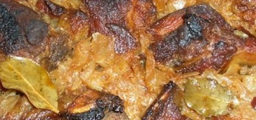 Свински ребра с прясно зеле