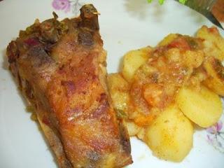 Рецепта за Печени свински ребра