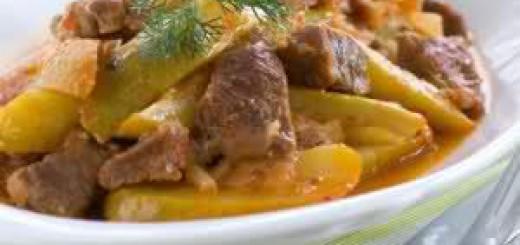 Свинско със зелен фасул и картофи