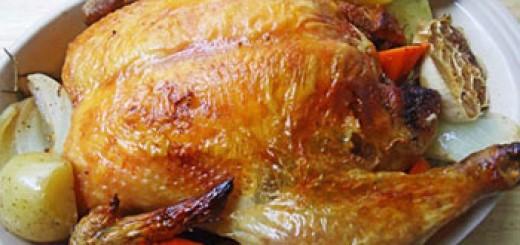 Печено пиле на фурна
