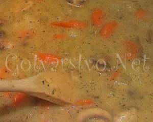 Супа от гъби, картофи и моркови