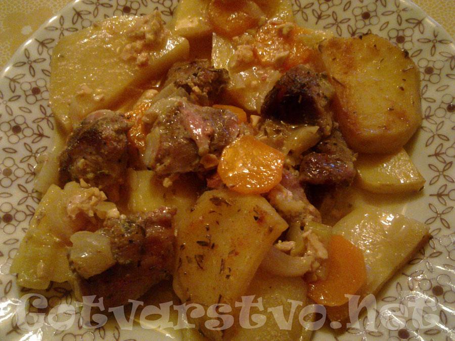 Свински джолан с картофи