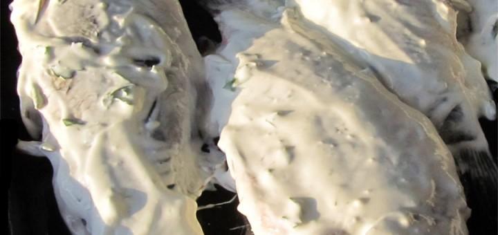 Печен шаран с копър на фурна
