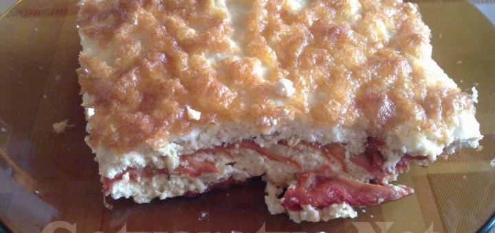 Солена торта с чушки и извара