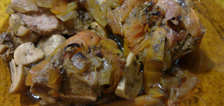Пържоли със задушени зеленчуци