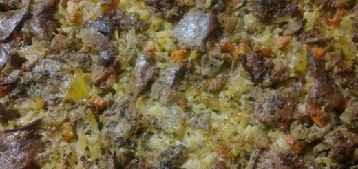 Ястие от дреболии с ориз