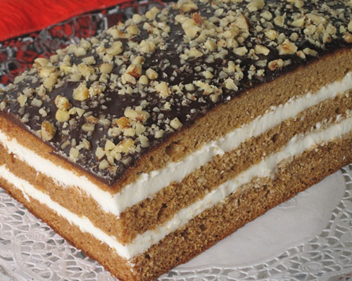 Торта с крем и шоколадова глазура