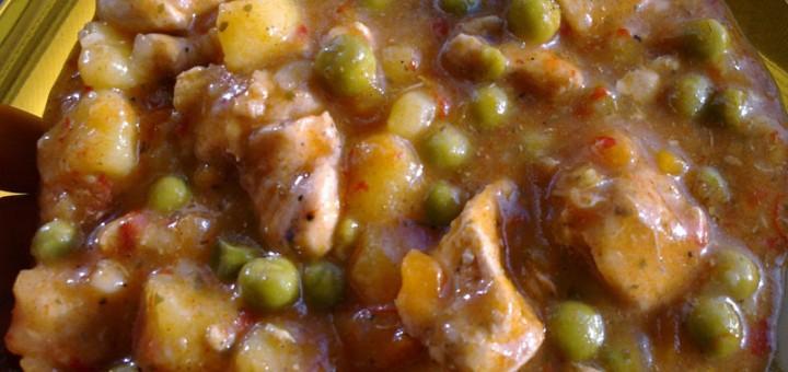 Яхния със зеленчуци и пилешко месо