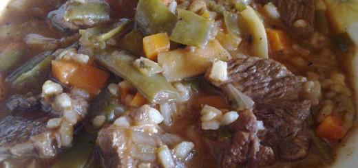 Ястие с телешко месо и зелен фасул