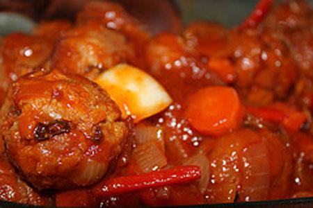 Лучена яхния с моркови и целина