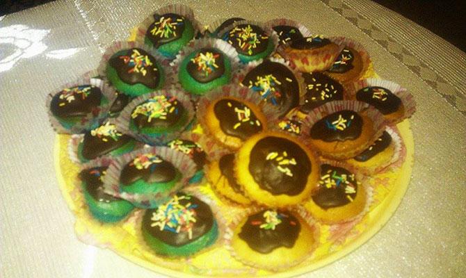 Мини кексчета с глазура