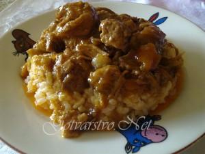 Кебап върху ориз по родопски