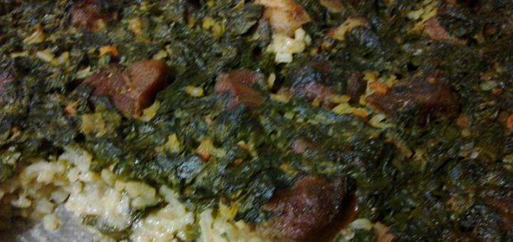 Месо със спанак на фурна