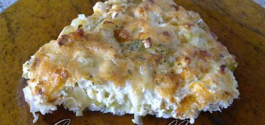 Суфле с праз, яйца и сирене