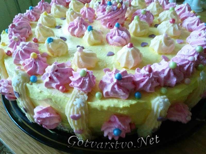 Торта с шоколад и сметана