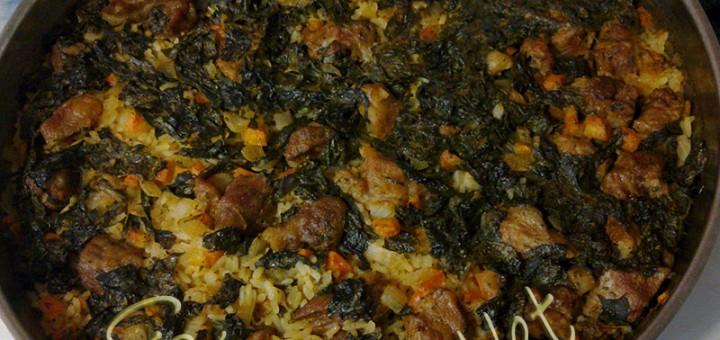 Лапад с месо на фурна