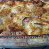 Запеканка с колбас и зеленчуци